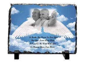 Personalised Photo Memorial Rock Slate Mum Dad Grandparents Friends