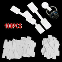 100pcs/Set Blank Price Tags Ring Necklace Jewelry Labels Paper Sticker Label