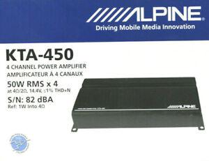 Alpine KTA-450 Power Pack 4-Channel Class-D Amplifier Dynamic Peak Power 400wNEW
