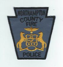 VINTAGE NORTHAMPTON COUNTY, PA  POLICE-FIRE(CHEESECLOTH BACKING)  patch