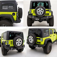 "HD Crawler FULL WIDTH Rear Bumper+2"" Hitch Receiver for 07-18 Jeep JK Wrangler"