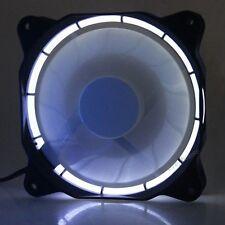 120mm 12cm White LED Fan 12V DC 60CFM Quiet PC Computer Case Cooler Cooling fan