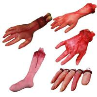 Halloween Horror Props Bloody Hand Haunted House Party Decoration Scary T7Z5