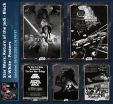 BLACK & WHITE POSTERS-ROTJ RETURN JEDI-5 CARD SET-TOPPS STAR WARS CARD TRADER