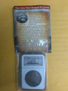 1783 8 reales El Cazador Genuine Shipwreck Coin With COA