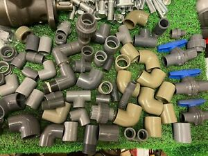 "PVC Inch Pressure Pipe & Fittings Solvent Weld Joiner 90 degree 1/2"" - 1"" Joblot"
