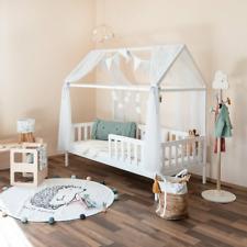 Isabelle & Max Gorlest Kinderbett Hausbett Bett mit Lattenrost 90x200cm Weiß