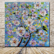 Large Handpainted Flower Abstract Knife Oil Painting On Canvas Wall Art 90x90cm