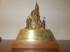 VTG Walt Disney World Employee Award 15 Magical Years Bronze Cinderella Castle