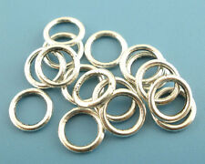 BD 300PCs Silver Tone Soldered Closed Jump Ring Findings 8mm Dia.