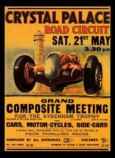 -A3 Size- Crystal Palace 1938  - Motor Car Racing Vintage Poster #09