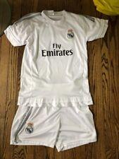 Real Madrid Juventus Ronaldo Kids Soccer Uniform Kit Jersey w/Shorts Size 12 13
