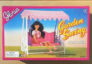 GLORIA DOLL HOUSE FURNITURE SIZE Garden Swing PLAY SET For Dolls (98016) NEW