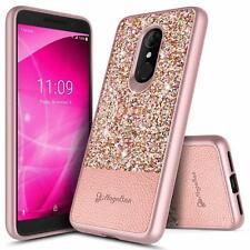 For T-Mobile REVVL 2/Alcatel 3 Case Shockproof Bling Glitter Hybrid Phone Cover
