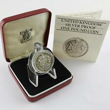 Royal Mint 1983 Silver Proof £1 Royal Arms Official Cased COA
