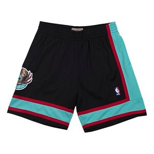 Vancouver Grizzlies 2001 Mitchell & Ness Authentic Swingman Shorts- Black/Teal