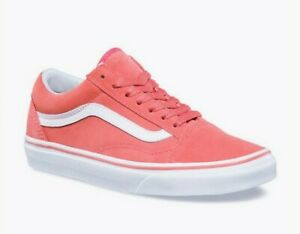 Vans Old Skool Suede Spiced Coral / White Low Top Shoes Women 5 / Men 3.5 New