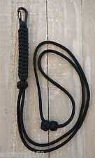 Paracord Neck Lanyard with Clip (Black) *Fully Adjustable*