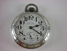Antique all original 16s Hamilton 992B Railway Special pocket watch made 1967
