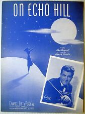 DICK JURGENS Sheet Music ON ECHO HILL 40's POP vocal Big Band Swing
