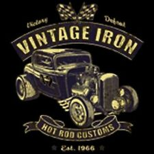 VINTAGE IRON HOT ROD CUSTOMS HEMI 32 DEUCE WORK SHIRT DICKIES BUTTON UP GARAGE