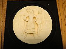 Estate 1978 CARMEN Opera 3D Ivory Alabaster Gino Ruggeri Italy Hand Carved Plate