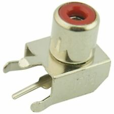 PCB Phono RCA Socket Connector Red (Pack of 2)