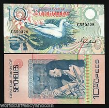 SEYCHELLES 10 RUPEES P-28 1983 x 10 Pcs Lot UNC RED FOOTED BOBBY BIRD CURRENCY