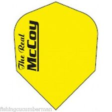 "McCOY ""THE REAL"" EXTRA STRONG DART FLIGHTS FLURO YELLOW"