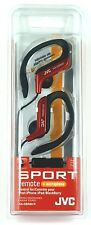 HAEBR80R JVC Sport-Clip In-Ear Headphones/Earphones with Microphone&Remote(Red)