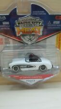 Jada Toys Badge City Heat Police 57 Chevy Corvette White