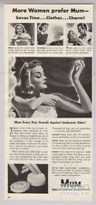 1940 Mum Underarm Powder Deodorant Nurse Secretary Print Ad Advertisement '40s