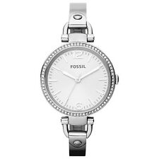 Fossil Women's ES3225 Georgia Silver Dial Stainless Steel Bangle Bracelet Watch