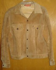 MENS LEVI'S VINTAGE 60'S 1960'S BIG E LEATHER BUCKSKIN SUEDE JACKET USA TRUCKER