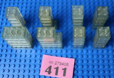 40x Lego Transparent Bricks 2x2/2x3/2x4 etc - Mainly Vintage (see note) #R411
