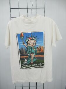 H1563 VTG Alstyle Apparel Short Sleeve Crew Neck Betty Boop NYC T-shirt Size S
