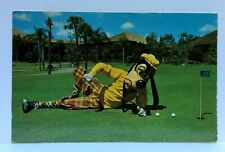 Disney World Goofy Way To Putt Golf Resort Vintage Postcard