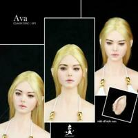 "WONDERY 1/6 Ep01 Ava Female Head Sculpt Carving Model Toy for 12"" Action Figure"