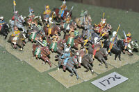 25mm medieval / saracen - 20 cavalry painted metal - cav (1776)