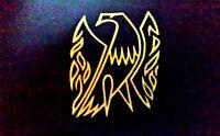 Gibson Guitar Firebird Pickguard Logo Decal Sticker OEM, Metal Flake GOLD