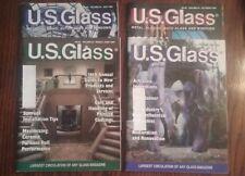U.S. Glass Magazines-Metal Glazing Auto Glass Windows, lot of 4 past issues 1999