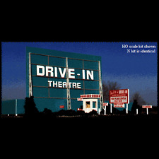 "N Scale: ""DRIVE-IN THEATRE"" Kit #068 by Blair Line"
