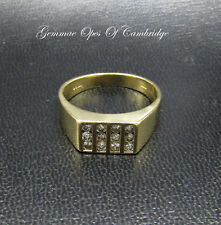 18ct Gold Diamond Gents Ring Size W 8.4g 0.6 carats