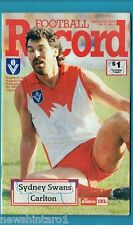 #NN. AUSTRALIAN RULES FOOTBALL RECORD, SYDNEY SWANS V CARLTON 22-25/4/1988