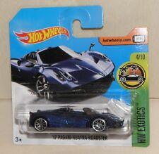 Hot Wheels '17 PAGANI HUAYRA ROADSTER Convertible Cabrio blau HW Exotics   NEU
