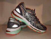 Asics GEL-Nimbus 19 Running Shoe Carbon White Flash Coral T750N Womens Size 8
