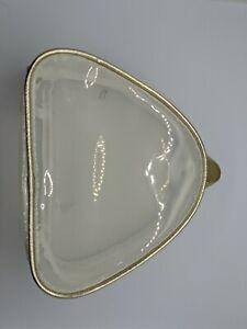 Nordstrom Beauty Opaque/Gold Trim Zipper Makeup Cosmetic Toiletries Storage Bag