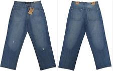 NEU Interessante Herren 5 Pocket Jeans Hose im Destroyed Style blau Inchgr.36/32