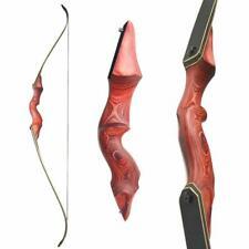 "60"" Archery Recurve Bow Wood Riser Takedown Bow Arrow Hunting Shooting 30-60lbs"