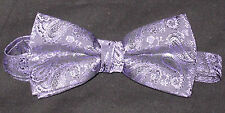 Lot of 10 Purple Paisley New Mens Bow Ties Great for Chorus Groups Bands Church